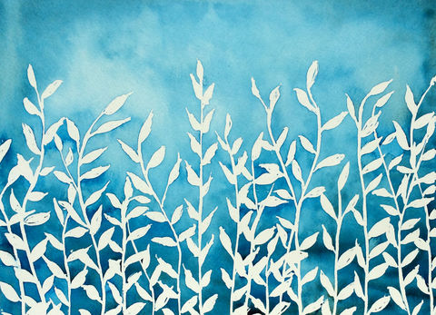 Blue,Nature,(original,watercolor),$50,reduced,to,$36!