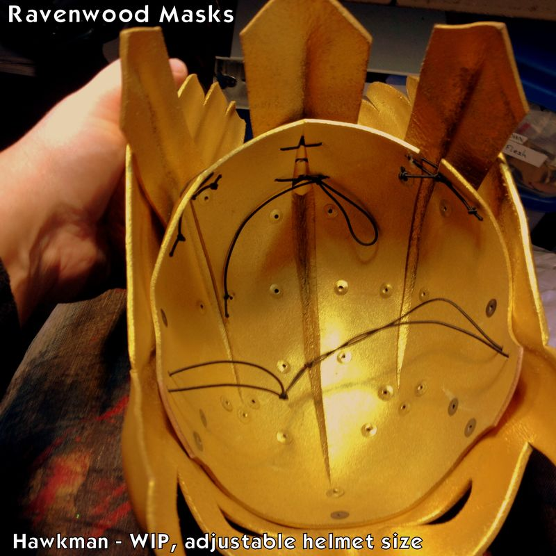 Hawk - superhero cosplay leather helmet - product images  of