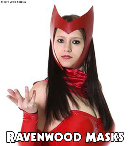 Spellbound,-,leather,headdress,costume,scarlet witch costume, cosplay, scarlet witch, devil, devel costume, halloween, halloween costume, mardi gras headdress, comic con, mask, pagan, costume, fantasy