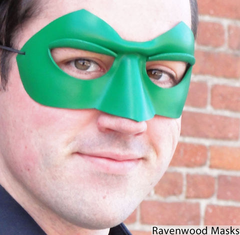 Shadow,-,superhero,costume,,leather,mask,leather mask, mask, masquerade, cosplay, mardi gras, green mask, masquerade for men, green lantern, green arrow, halloween, halloween costume
