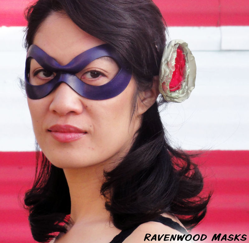 Indiscreet - leather cosplay mask, superhero or supervillain - product images  of