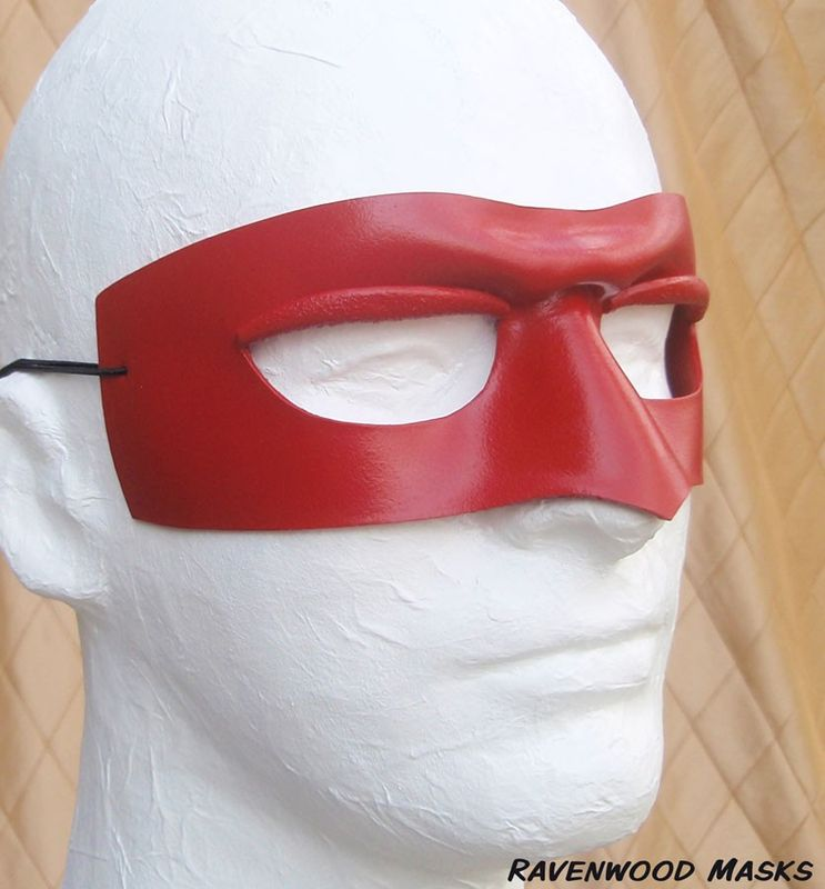 Rascal - masquerade mask hand sculpted leather - product images  of