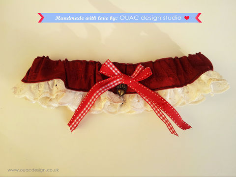 Winter,Collection,-,Red,Riding,Hood,Garter.,Fairytale.,Free,UK,Delivery,Accessories,Women,Red_riding_hood,Fairytale,cotton,white_lace,heart_charm,Scandinavian,elastic,Christmas,Party_garter,party,Cotton,White_lace_trim,antique_brass_heart_charm,Scandinavian_ribbons