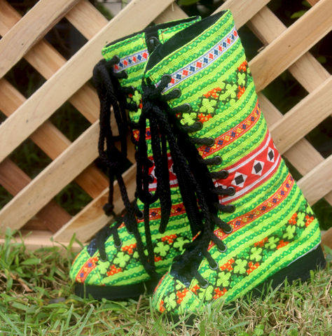 Bright,Green,Little,Girls,Boots,In,Hmong,Embroidery,Combat,Style,Children,Clothing,Shoes,childrens,boho,hippie,childrens_boots,Hmong_embroidery,boots,ethnic_childrens,embroidered_boots,Hmong_shoes,toddler,combat_boots,vegan_boots,8_10_1_5,cotton,rubber,Hmong embroidered cotton