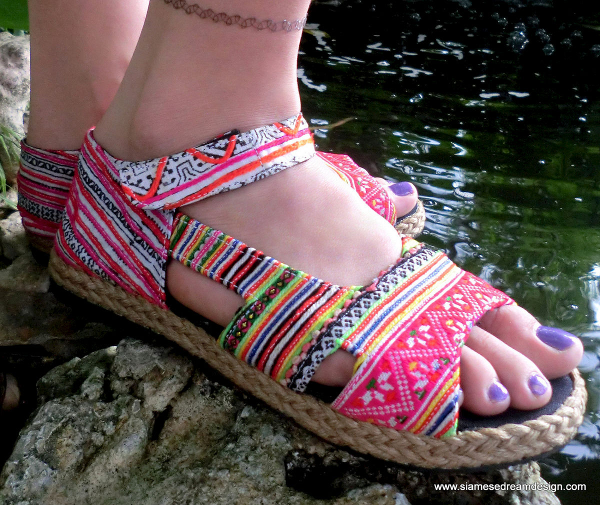 Cealie Colorful Embroidery & Batik Open Toe Mary Jane - product images  of