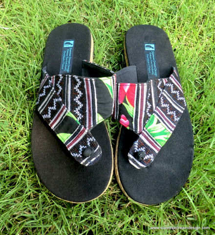 Novak,-,Men's,Sandals,in,Ethnic,Hmong,Embroidery,With,Colorful,Accents,Clothing,Shoes,Men,Mens,Vegan,Earthy,Flip_Flops,Embroidered,Hemp,Mens_Sandals,Mens_Vegan_Shoes,Hippie_Sandals,10_5_11,surfer_shoes,cotton,rubber sole,embroidery,hemp,batik