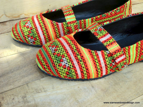 Micha,Ballet,Flat,Womens,Shoes,in,Yellow,and,Red,Hmong,Colorful,Embroidery,Clothing,Women,Ethnic,Vegan,Embroidered,Ballet_Flats,Colorful_Shoes,Vegan_Shoes,Flat_Shoes,Boho,shoes,clothing,womens_shoes,6,cotton,natural cotton,embroidered
