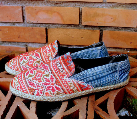 Morgan,-,Hmong,Embroidered,Womens,Loafers,With,Indigo,Batik,Clothing,Shoes,Women,Vegan,Mens_shoes,ethnic_shoes,casual_shoes,hipster_shoes,womens_shoes,Hmong_shoes,womens_flats,embroidered_shoes,indigo_batik,12,rubber sole,vegan,Hmong embroidered cotton,indigo batik cotton,rope trim