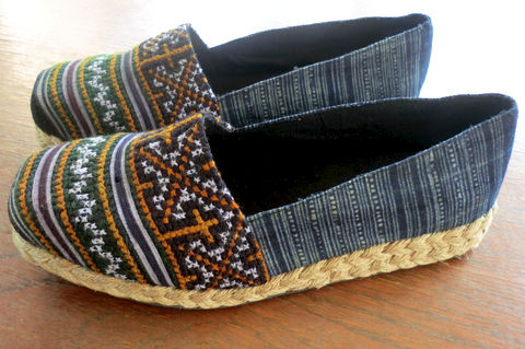 Chloe,Earthy,Womens,Vegan,Loafer,In,Hmong,Embroidery,and,Batik,Clothing,Shoes,Women,Tribal,Handmade,Repurposed,Vegan_Shoe,Hmong_Shoe,Embroidered_Shoe,Womens_Loafer,Womens_Shoe,Hmong_Embroidered,Tribal_Shoes,clothing,5,cotton,natural cotton,embroidery,vegan