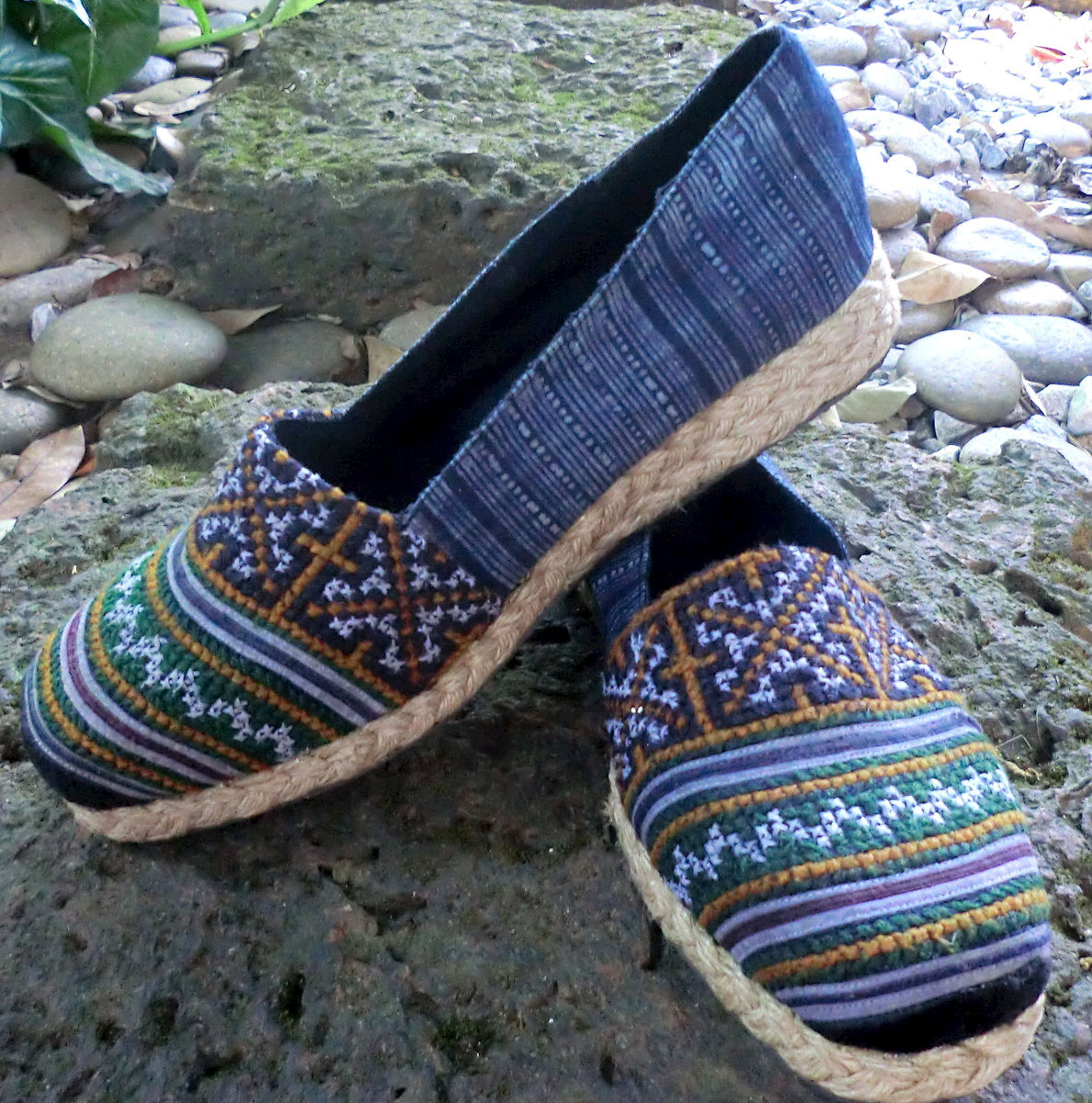 Chloe Earthy Womens Vegan Loafer In Hmong Embroidery and Batik  Chloe - product images  of