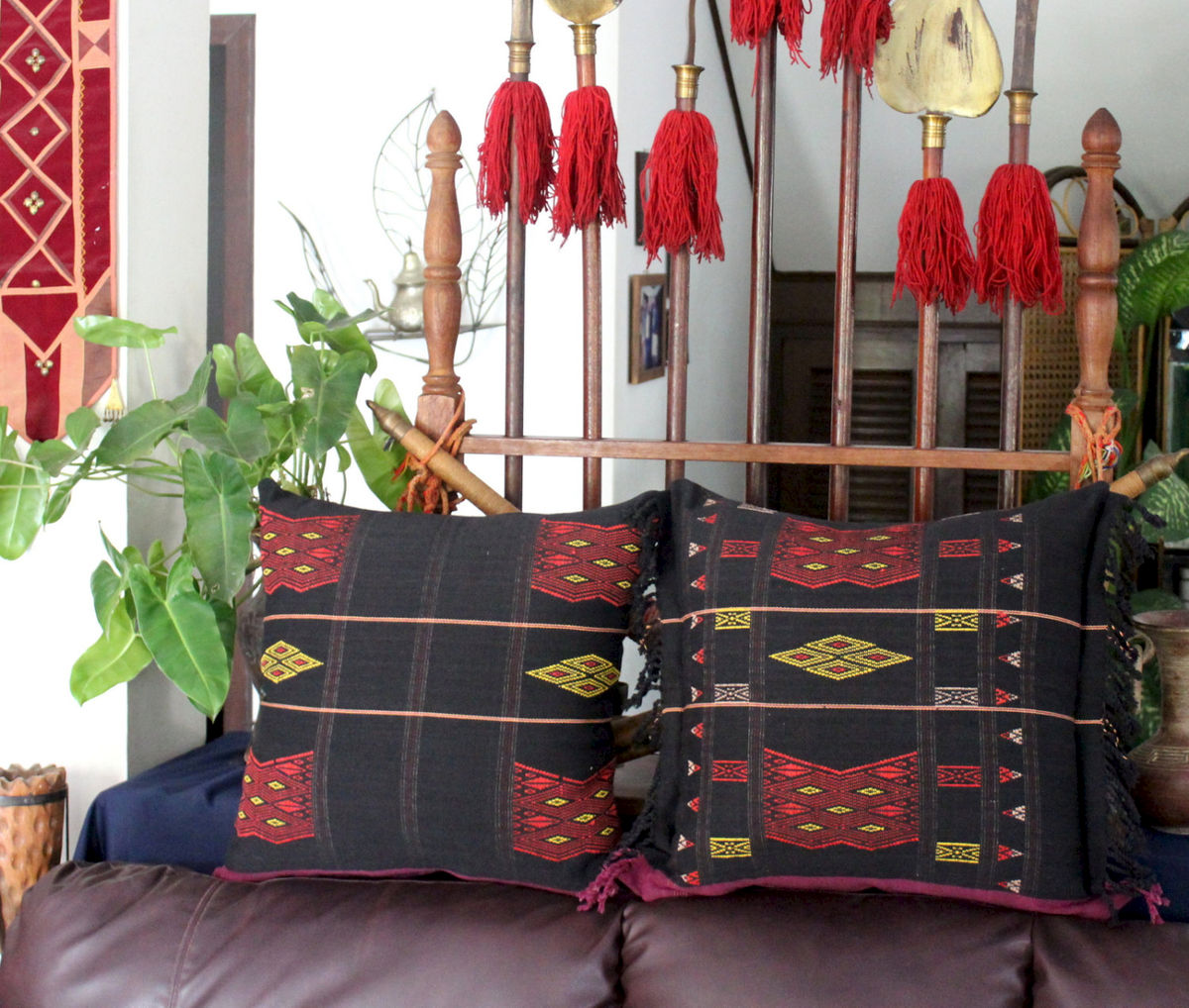 Naga Hand Woven Tribal Pillow's 16, 20 and 30 Inch - product images  of