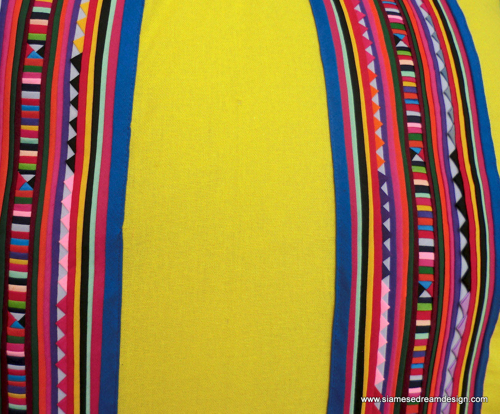 3 Sizes Of Colorful Tribal Lisu Yellow Pillow's - product images  of