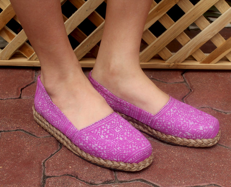 Chloe Womens Loafers In Lilac Hmong Batik - product images  of
