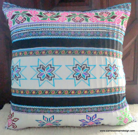 20,White,Vintage,Embroidery,Cross,Stitch,Hmong,Pillow,/,Cushion,Cover,Housewares,Embroidered,Tribal,Hmong_Pillow,Hmong_Cushion,Pillow_Cover,Cushion_Cover,Ethnic_Pillow,Floor_Pillow,Floor_Cushion,20,embroidery,colorful,cotton