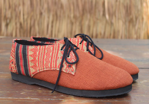 Alexa,Womens,Hemp,Oxford,With,Tribal,Naga,Embroidery,womens shoes, vegan womens shoes, ethnic shoes, hemp shoes, handmade, oxfords, eco friendly shoes, fair trade, womens fashion, Naga