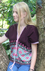 clothing, womens tribal clothing,ethnic womens clothes, blue top