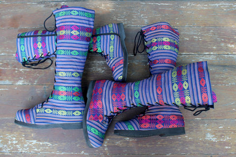 Sadie,Womens,Tall,Boots,In,Colorful,Blue,Vietnamese,Textiles,Clothing,Shoes,Womens boho boots,Vegan_Boots,Tribal_Boots,Unique_Boots,Handmade_Boots,Womens_Boots,clothing,bohemian,ethnic_boots,womens_shoes,boots,vegan,laces,cotton