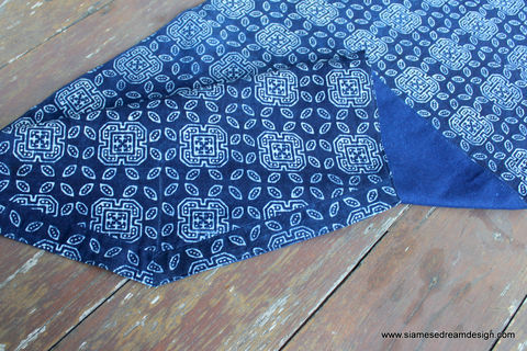 Table,Runner,In,Hmong,Natural,Indigo,Blue,Batik,Boho home decor,boho table runner,Hmong indigo batik Table Runner,Hmong indigo batik,tribal,accent,indigo batik table_runner,dresser_runner,indigo,natural,cotton,blue,batik,natural indigo dye