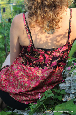 Alma,-,Hmong,Women's,Camisole,In,Balinese,Batik,womens summer fashion 2015,womens camisole, ethnic womens cami top, boho clothing, summer shirt, womens colorful boho tank top, fair trade women's clothing, sweatshop free, womens ethnic clothing, Bali clothing