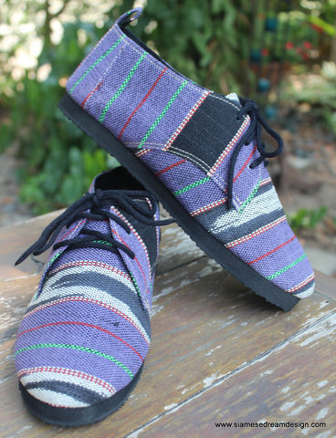 Maddie,Womens,Tribal,Oxford,In,Purple,Ethnic,Karen,Textiles,womens tie shoes, vegan womens shoes, ethnic shoes, purple shoes, handmade womens oxfords, karen textiles, eco friendly shoes, fair trade, womens ethnic fashion, womens Tribal shoes