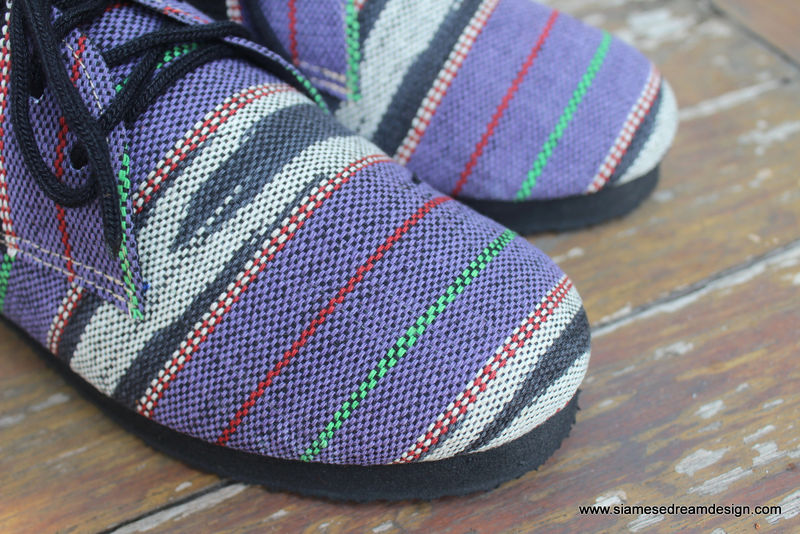 Maddie Womens Tribal Oxford In Purple Ethnic Karen Textiles - product images  of