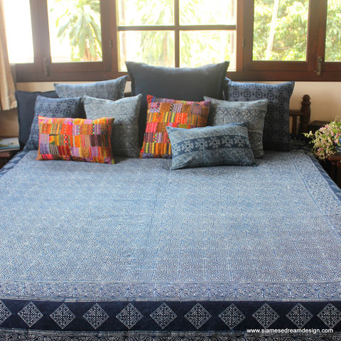 King,Duvet,Cover,-,Natural,Hmong,Indigo,Batik,Cotton,batik bedding, Hmong blanket, boho blanket, Bedroom,indigo batik Duvet cover,duvet,quilt,boho bedding,Indigo_Batik,batik_blanket,Hmong_blanket,ethnic_home_decor,Vintage_Hmong,housewares,bohemian_bedding,king_bedding,king,cotton,indigo batik,natural
