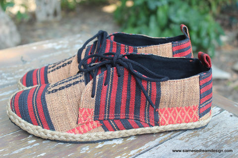 Maddie,Tribal,Womens,Oxford,In,Naga,Textiles,womens shoes, vegan womens shoes, ethnic shoes, hemp shoes, handmade, oxfords, eco friendly shoes, fair trade, womens fashion, womens Tribal shoes