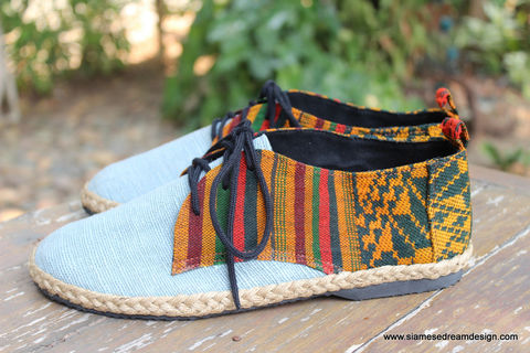 Alex,Laos,Embroidery,&,Hemp,Mens,Vegan,Oxford,mens shoes, vegan mens shoes, ethnic shoes, mens hemp shoes, handmade mens oxfords, eco friendly shoes, fair trade, mens fashion