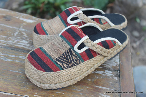 Sydney,Womens,Embroidered,Shoes,in,Ethnic,Naga,Textiles,Clothing,Women,womens_shoes,vegan,shoes,slip_ons,slides,embroidered,clogs,ethnic_shoes,clothing,slip_on_shoes,9,casual_shoes,cotton,ethnic embroidery,rope,rubber