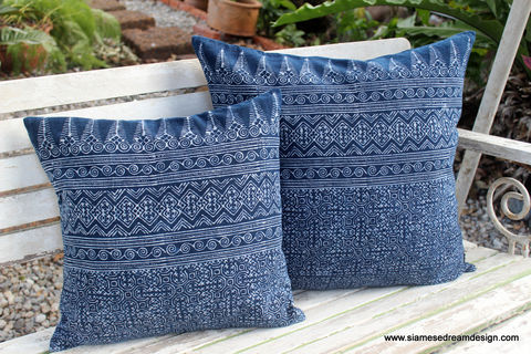 Indigo,Batik,Pillow,Ethnic,Hmong,Cushion,Cover,blue and white cotton pillow,indigo batik Pillow,indigo batik Cushion,Hmong_Pillow,Hmong_Cushion,Pillow_Cover,Cushion_Cover,Ethnic_Pillow,Throw pillow,boho Home_Decor,batik_cushion,indigo batik
