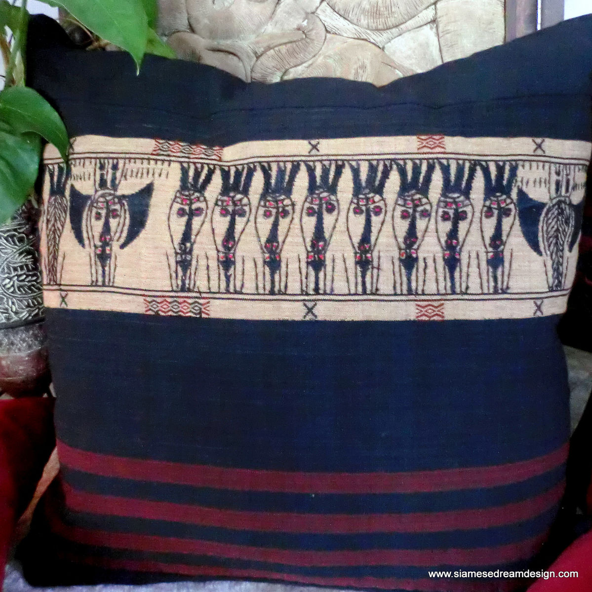 "30"" Tribal Naga XXL Embroidered Floor Pillow / Cushion Covers - product images  of"