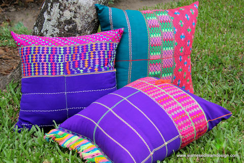 Large,Boho,Floor,Pillow,/,Cushion,Cover,in,Bright,Ethnic,Karen,Textiles,colorful boho pillow,Floor Pillow,boho Cushion covers,Large Ethnic_Pillow,Floor_Cushion,Large_Pillow,pillow,eclectic_decor,Bohemian_Decor,boho_pillow,Karen textiles