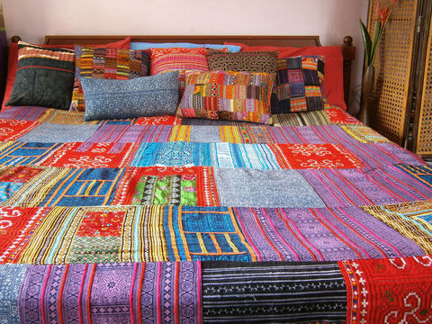 Queen,Duvet,Cover,-,Vintage,Hmong,Indigo,Batik,and,Embroidery,Patchwork, boho bedding,Boho Duvet,Hmong blanket,boho quilt,bohemian bedding,batik_blanket,Hmong_blanket,ethnic_home_decor,Vintage_Hmong,embroidery,hemp blanket,Queen_Duvet,cotton,natural cotton,applique,batik