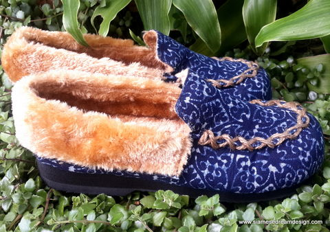 Riley,-,Moccasin,Style,Womens,Slippers,In,Natural,Hmong,Indigo,Batik,Clothing,Shoes,boho Slippers,Women,blue Slipper,Vegan_Slipper,Embroidered_Slipper,Plush_Lined_Slipper,womens_slippers,clothing,womens_gifts,mocassin_slipper,6,6.5,7.5,8,36,37,38.5,41,9_5,tribal,ethnic,embroidered,vegan