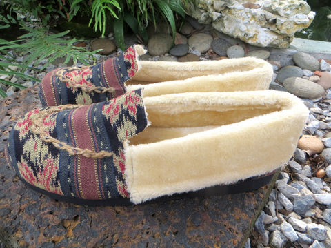 Riley,-,Men's,Slippers,In,Mixed,Brown,Ikat,Clothing,Shoes,Men's slippers,Tribal,Mens_Vegan_Shoes,cruelty free Mens_Slippers,Mens ethical fashion, Vegan_Slippers,Plush_Lined_Slippers,shoes,house_shoes,mens_gifts,Boho_man,ethnic_slippers,11_5,rubber sole,embroidered,ethnic Naga uppers