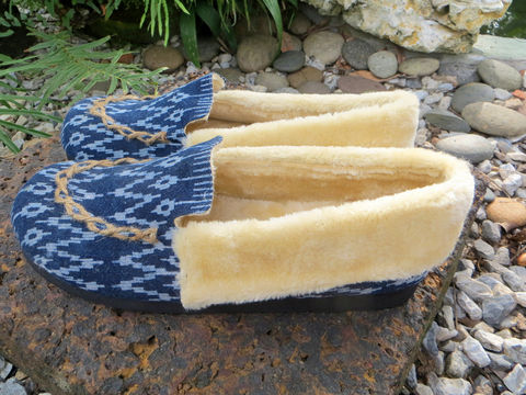 Riley,-,Men's,Slippers,In,Hmong,Indigo,Batik,Blue Men's slippers,Tribal,Mens_Vegan_Shoes,cruelty free Mens_Slippers,Mens ethical fashion, indigo batik, Hmong indigo batik, Vegan_Slippers,Plush_Lined_Slippers,shoes,house_shoes,mens_gifts,Boho_man,ethnic_slippers,11_5,rubber sole,embroidered