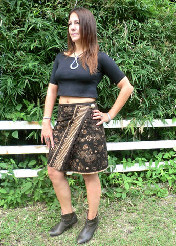 Ruby,-,Womens,Wrap,Skirt,In,Bali,Batik,womens boho skirt, womens fall wrap skirt, bali batik womens skirt, ethnic short skirt, ethical clothing, 4,6,8,10,12,14, womens eco fashion, fair trade womens fashion