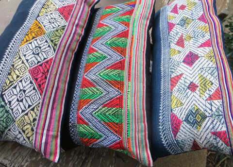 Lumbar,Pillow,-,Vintage,Laos,Embroidery,Rectangular,Cushion,boho Pillow,Embroidered cushion,bohemian decor, boho home decor,bohemian embroidered pillow, Boho Cushion cover,Pillow_Cover,colorful Cushion_Cover,embroidery,Bohemian_pillow,decorative_pillow