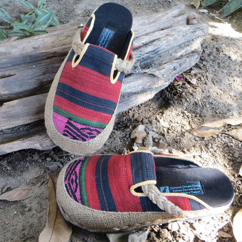 Sydney,Womens,Slide,Shoes,in,Colorful,Naga,Textiles,Clothing,Women,womens_shoes,vwomens vegan shoes ,shoes,womens slip_on shoes,slides,embroidered,clogs,ethnic_shoes,clothing,slip_on_shoes,9,casual_shoes,cotton,ethnic embroidery,rope,rubber