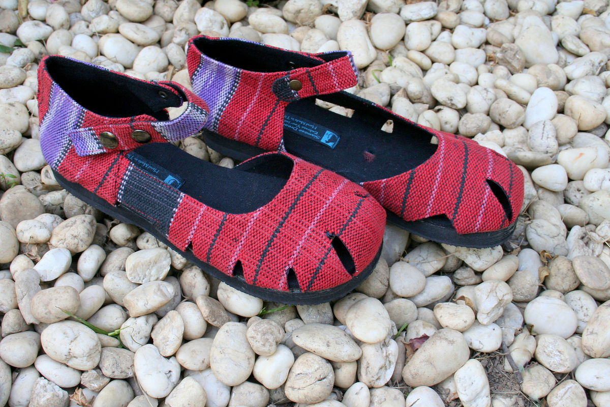 Dahlia Mary Jane Womens Shoe In Hand Woven Karen Textiles - product images  of