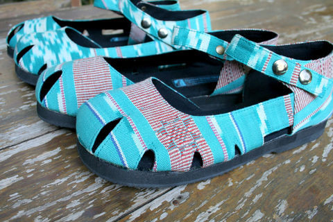 Dahlia,Mary,Jane,Womens,Shoe,In,Hand,Woven,Turquoise,Ikat,Clothing,vegan Shoes,Women vegan shoes, vegan womens Espadrilles, eco friendly womens Flat shoes, vegan Mary_Jane,Vegan_Shoes,Colorful_Shoes,shoe, ethnic_shoes,Natural hand woven Cotton