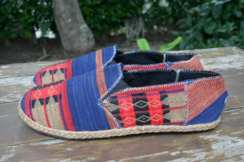 Morgan,Mens,Espadrille,Loafer,in,Red,And,Blue,Ethnic,Naga,Textiles,Clothing,Shoes,Mens ethical fashion,vegan Mens espadrilles,mens summer Loafers,Vegan,Comfort,Mens_Vegan_Shoes,Naga textiles,Mens_shoes,ethnic_shoes,surfer_shoes,boho_man,casual_shoes,hemp_shoes,rubber sole,vegan,hemp