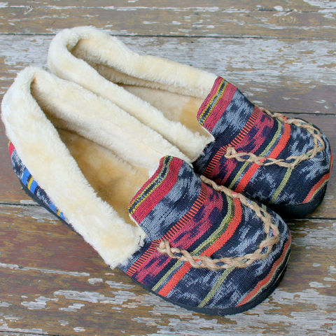 Riley,-,Men's,Slippers,In,Hand,Woven,Ikat,Clothing,Shoes,Men's slippers,Tribal,Mens_Vegan_Shoes,cruelty free Mens_Slippers,Mens ethical fashion, Vegan_Slippers,Plush_Lined_Slippers,shoes,house_shoes,mens_gifts,Boho_man,ethnic_slippers,11_5,rubber sole,embroidered,ethnic Naga uppers