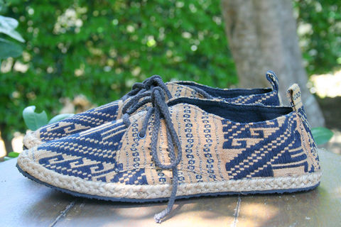 Matt,-,Mens,Sneaker,Oxford,In,Hand,Woven,Isaan,Textiles,mens shoes, vegan mens shoes, ethnic shoes, hemp shoes, handmade, oxfords, eco friendly shoes, fair trade, mens fashion,mens Tribal shoes