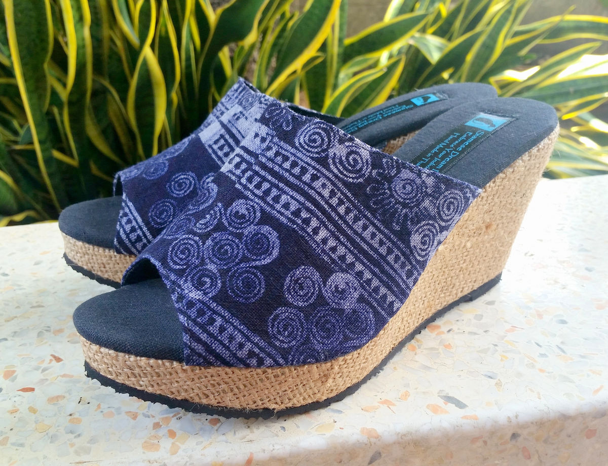 Sophie - Batik Womens Boho Wedge Heel Vegan Shoe - product images  of