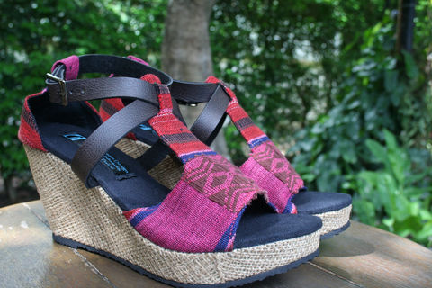 Leighanna,Wedge,Heel,Vegan,Womens,Sandals,Tribal,Naga,Embroidery, Siamese Dream Design, vegan shoes, womens ethnic wedge heeled sandals, tribal shoes, vegan sandals,handmade shoes, fair trade, eco friendly fashion,womens
