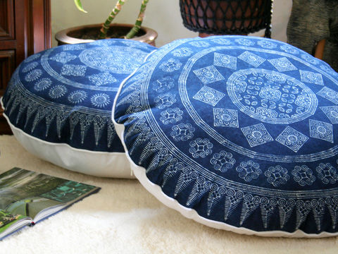 30,Round,Floor,Pillow,In,Hmong,Indigo,Batik,Housewares, round boho floor Pillow,large round Floor Cushion,Hmong_indigo batik Pillow,Hmong_Cushion,Pillow_Cover,Cushion_Cover,Ethnic_Pillow,Floor_Pillow,Floor_Cushion,Large_Pillow,Bohemian_decor,decorative_pillows,embroidered,cotton,embroidery,indigo b