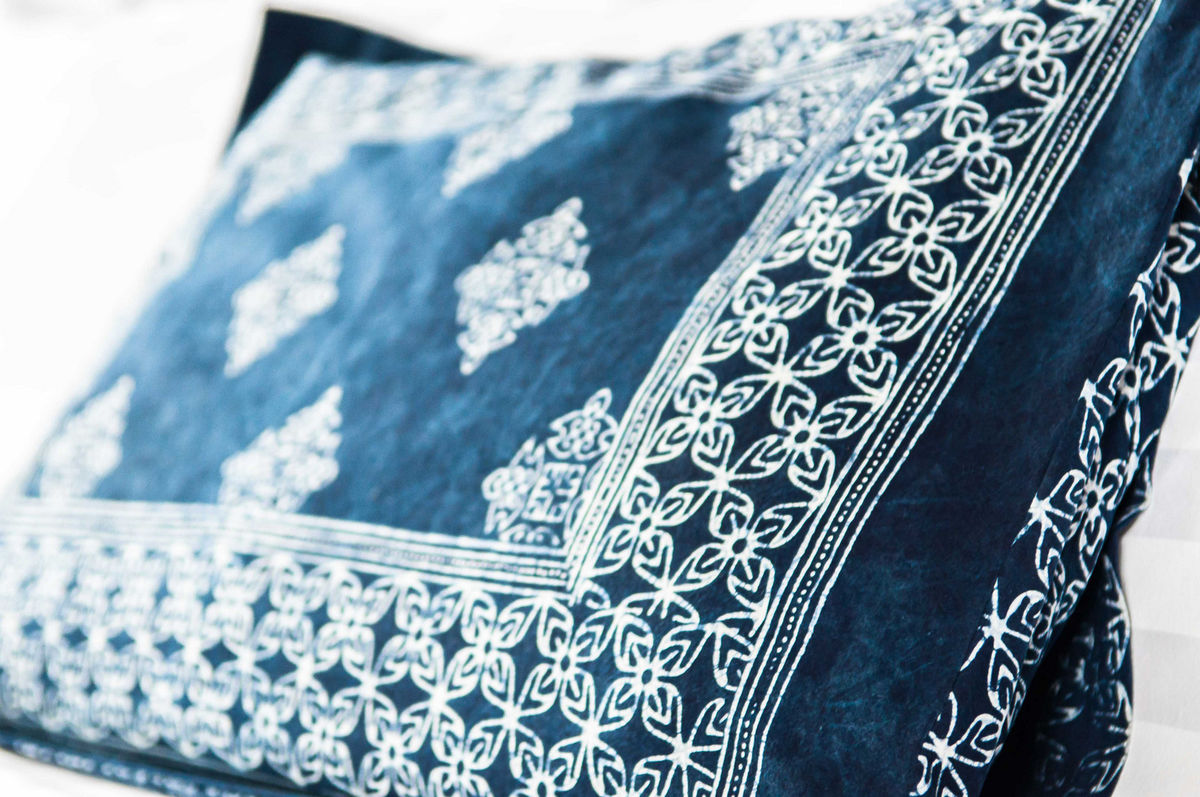 Indigo Batik Bed Pillow Shams Standard or King - product images  of