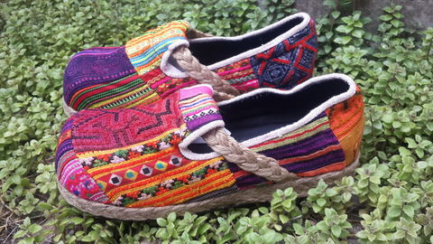 Casey,-,Women's,Hmong,Patchwork,Moccasin,Shoe,Clothing,colorful Shoes, vegan Flats,Ethnic shoes,Embroidered shoes,Hmong shoes,womens Espadrille,Flat,Vegan_shoes,Colorful_shoes,womens_shoes,boho,espadrille_shoes,womens_espadrilles,Natural Cotton,Tribal Embroidery,batik