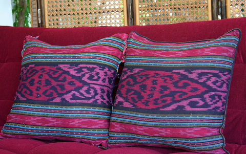 Berry,Hand,Woven,Ikat,Pillows,,20,Inch,pink pillow,boho Pillow,boho Cushion,berry ikat_Pillow,fringed floor Cushion,Pillow_Cover,Cushion_Cover,Ethnic_Pillow,Floor_Pillow,Floor_Cushion,Large_Pillow,Bohemian_decor,decorative_pillows